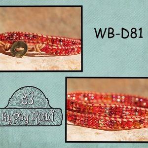 WB-D81 beaded double wrap bracelet